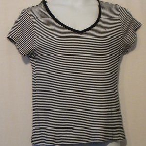 NWOT Tommy Hilfiger Cotton Black/White Stripe T XL